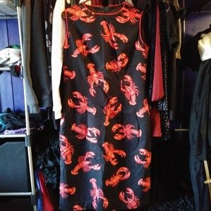 Handmade Lobster Dress Zip Up Back
